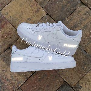 Reflective playboy Customs Nike Air force 1